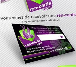 Ren-Cards, la carte de visite pour ne pas se prendre un râteau en direct