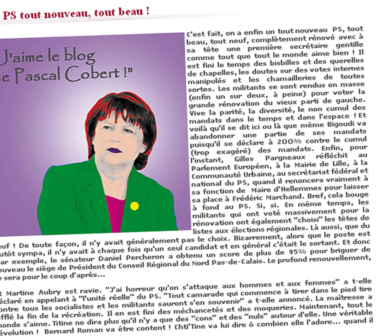 Blogueur du Nord : Pascal Cobert, le poil à gratter lillois