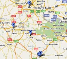 La carte du petit banditisme régional