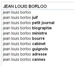Nos personnalités nordistes vues par Google Suggest
