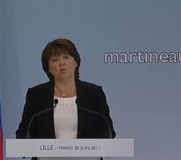 """M.Aubry candidate : les """"Je"""" de Martine"""