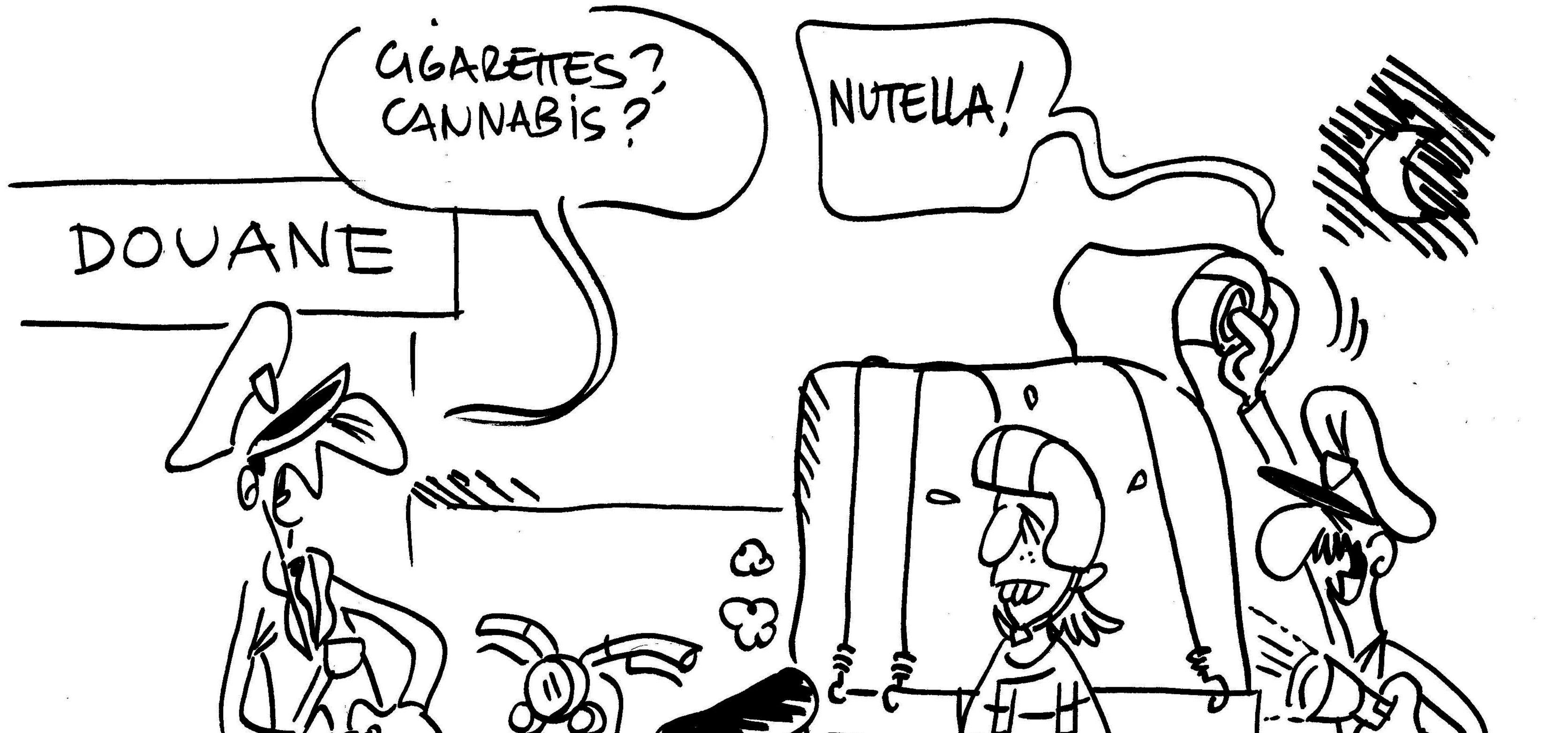 Les dessins de M'sieur L'Comte : taxe Nutella et douane