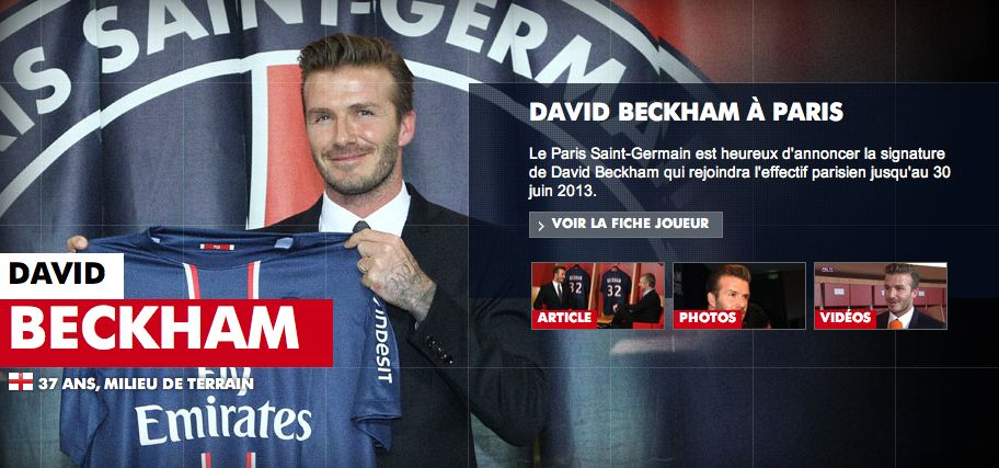 Exclusif, David Beckham au LOSC !