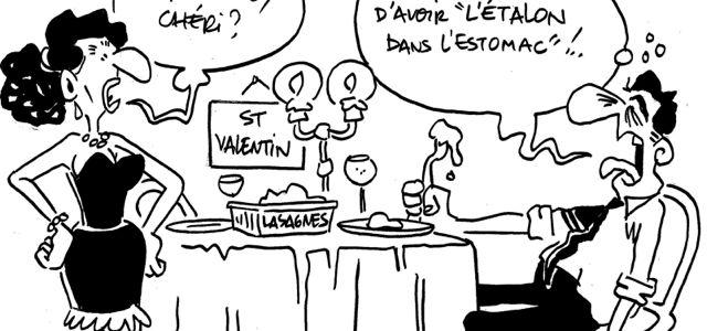 Les dessins de M'sieur l'Comte : ben, qu'est-ce qu'elles ont mes lasagnes ?