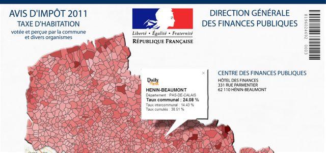 Taxe d'habitation : le taux de votre commune est-il l'un des plus élevés du Nord-Pas-de-Calais (cartes et infographie) ?