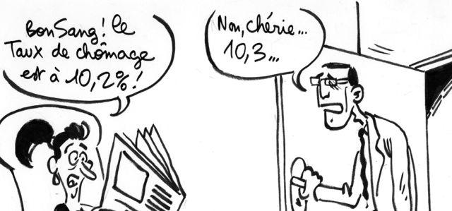 Les dessins de M'Sieur l'Comte : Julien Courbet viré, la courbe du chômage augmente