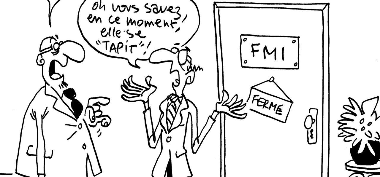 Les dessins de M'Sieur l'Comte : Lagarde se tapit