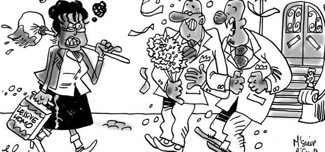 Mariage gay : M'Sieur l'Comte se paie Boutin (dessin)