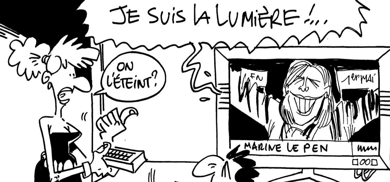 Les dessins de M'sieur l'Comte : qui pour éteindre Marine Le Pen ?