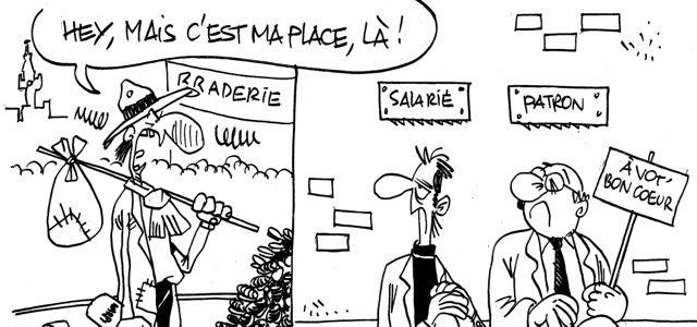 Les dessins de M'Sieur l'Comte : braderie de Lille ou augmentation des cotisations ?