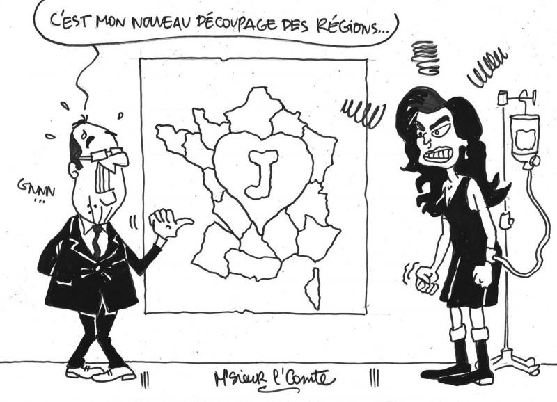 Le regard de M'Sieur l'Comte : le redécoupage des régions version Hollande