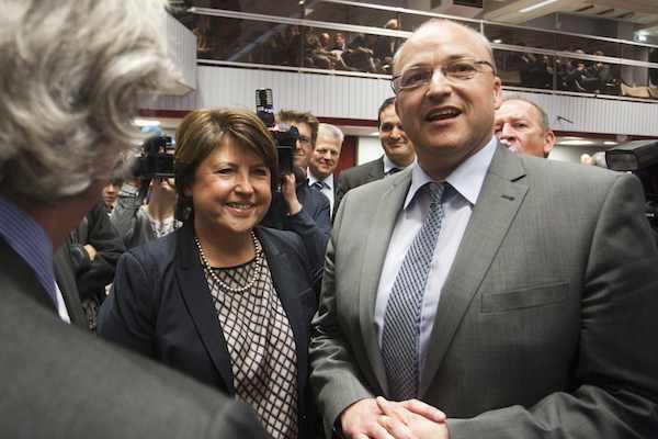 """Damien Castelain leader des """"petites communes"""" prend la succession de Martine Aubry. Crédit photo Baziz Chibane."""