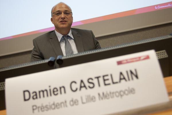 Damien Castelain, nouveau président de LMCU, a bouclé son exécutif. Qu'en retenir ? Photo : Baziz Chibane.