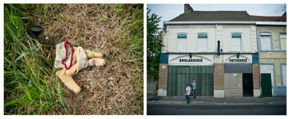 Sur l'îlot, reste de travaux. Dans la rue Arthur Brunet, sur les flancs de l'îlot Basly, maisons et commerces rachetés. Photos : Stéphane Dubromel.