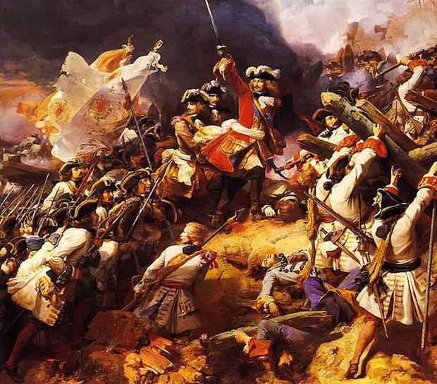 Villars sur la champ de bataille, un tableau de Jean Alaux peint en 1839. Crédit Wikimedia Commons.
