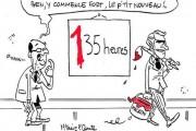 En dessin : Emmanuel Macron pour les 135 heures