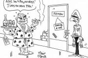 Dessin : DSK et  les Femen