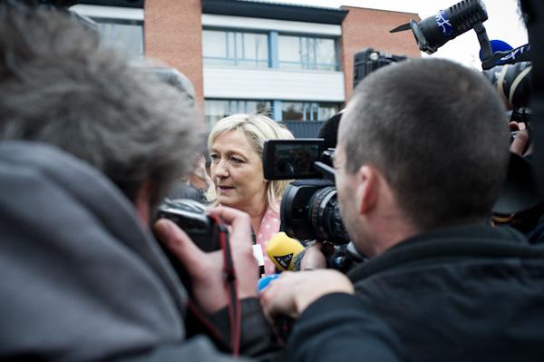 Marine Le Pen pourrait bien bouleverser les équilibres politiques. Crédit photo Stéphane Dubromel.
