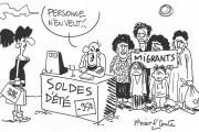 Dessins : un zeste de migrants et de guerre VTC/taxis