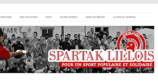 Le Spartak lillois, véhiculant des valeurs d'intégrité et de solidarité, lance le débat. Crédit photo Capture d'écran site Spartak Lillois.