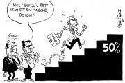 Quand Macron quitte son banc