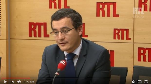 Gérald Darmanin. A l'époque, il défendait... Nicolas Sarkozy. Capture d'écran RTL.