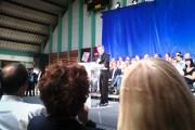 Nicolas Sarkozy sur les chapeaux de roue à Marcq-en-Baroeul
