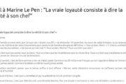 Front national : Pourquoi Eric Dillies dit ses quatre vérités à Marine Le Pen