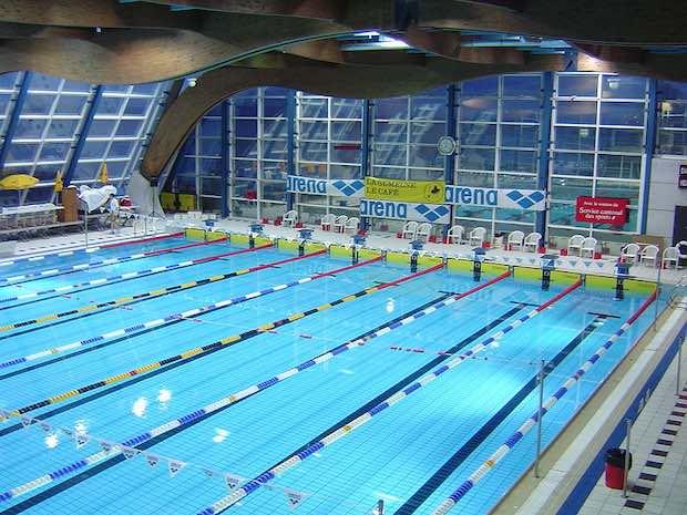 Rabot Dutilleul dans le grand bain de la piscine olympique de Lille