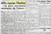 Ces connus méconnus (3/7): Louise Thuliez, Résistante par deux fois
