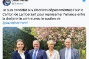 Départementales : Le parrain Xavier Bertrand accorde sa bénédiction au couple Henno/Astruc-Daubresse