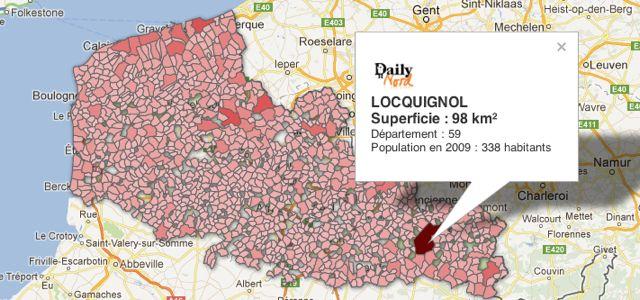Carte : quelles sont les plus grandes et plus petites communes du Nord – Pas-de-Calais ?
