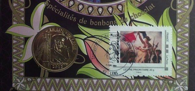 Louvre-Lens : un timbre pour le chocolatier, La Poste chocolat
