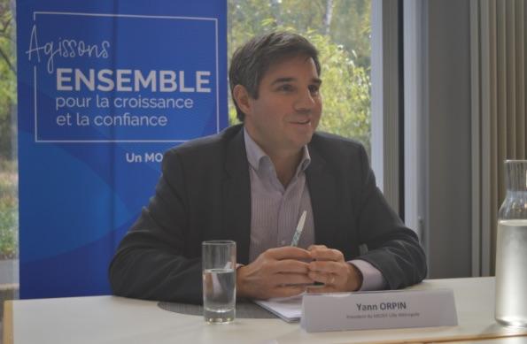 """Yann Orpin, président du MEDEF Grand Lille : """"Etre solidaire, plus que jamais"""""""