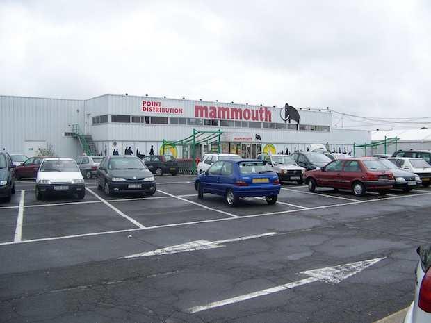 Le dernier Mammouth de France se trouvait à La Croix-Saint-Ouen dans l'Oise. Photo : Jayce2007 sur Commons Wikimedias. http://fr.wikipedia.org/wiki/Mammouth_(hypermarché)#mediaviewer/File:Mammouth2008.JPG