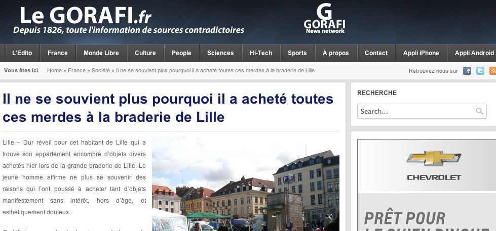 Le meilleur du Gorafi concernant le Nord – Pas-de-Calais