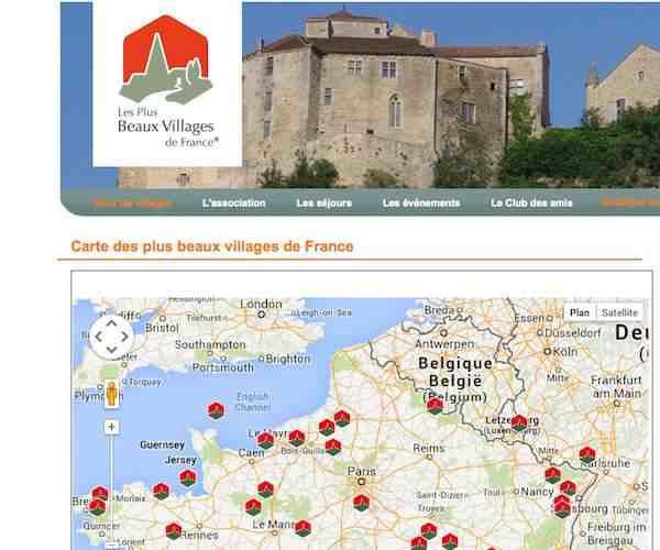 Pas un Plus beau village de France à l'horizon sur la carte du Nord-Pas-de-Calais. Crédit Capture d'écran du site des Plus beaux villages de France.