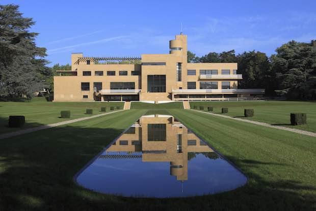 Villa Cavrois, vue axiale de la façade sud